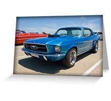 Blue Mustang Greeting Card