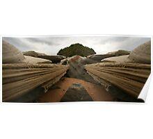 Rock Erosion Panorama Poster