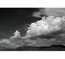 Cloudscape over the Sandia Mountains, in Monochrome Photographic Print