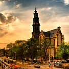 Sunset Panorama With Westerkerk by andreisky