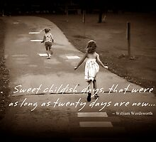 Sweet, Childish Days... by Greeting Cards by Tracy DeVore