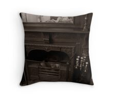 Fire Place Throw Pillow