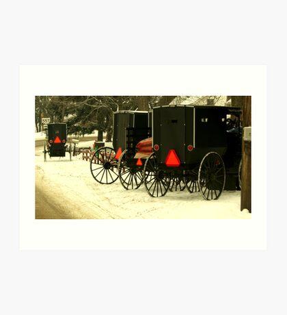 Amish Winter Art Print