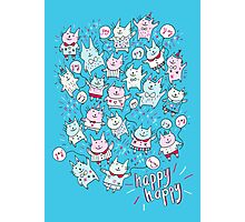Happy Party Cats Photographic Print