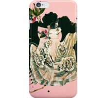 woman and prehistorical plant iPhone Case/Skin