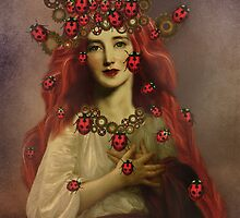 The Ladybug by strawberries