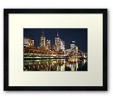 Melbourne at Night - Yarra River Framed Print