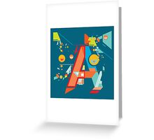 A in style Greeting Card