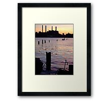 East River Swamp Framed Print