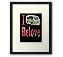 I Belove Bug - Pink Dissolve Framed Print