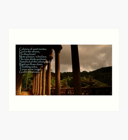 God in the Stones-Monserrate Palace Art Print