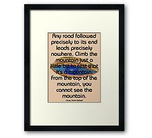 Test the mountain Framed Print