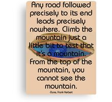 Test the mountain Canvas Print
