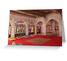 At Moti Mahal, Jodhpur Greeting Card