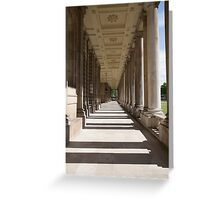 Columns in the Royal Naval college in Greenwich Greeting Card