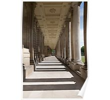 Columns in the Royal Naval college in Greenwich Poster