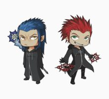Saix and Axel set by ravinesque-art