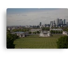 A view over London from Greenwich park Canvas Print