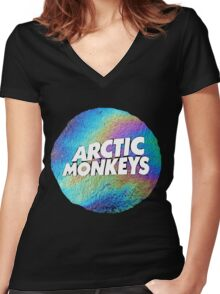Urban Jungle: Arctic Monkeys Women's Fitted V-Neck T-Shirt