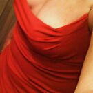Red Dress Self Portrait by Mariam Muradian