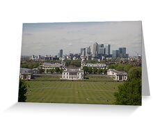 A view over London from Greenwich park Greeting Card