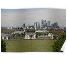 A view over London from Greenwich park Poster