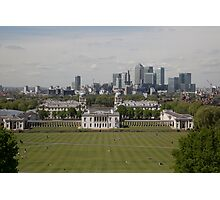 A view over London from Greenwich park Photographic Print