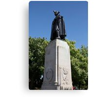James Wolfe statue in Greenwich park Canvas Print