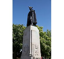 James Wolfe statue in Greenwich park Photographic Print