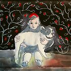 girl with dog by donna malone