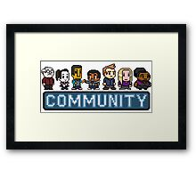 8-Bit Community  Framed Print