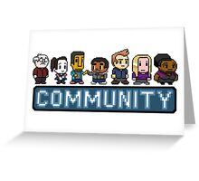 8-Bit Community  Greeting Card