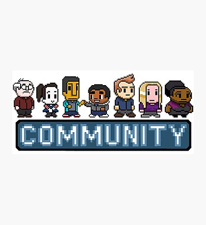 8-Bit Community  Photographic Print