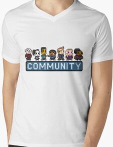 8-Bit Community  Mens V-Neck T-Shirt