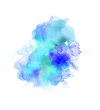 Blue Inkblot Spray  Sticker