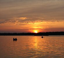 Sunset on the water.. Pretty by Melanie Wiggins