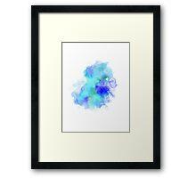 Blue Inkblot Spray  Framed Print