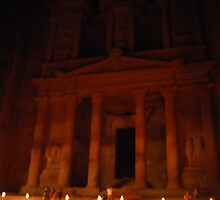 Petra by Night by mstrasse