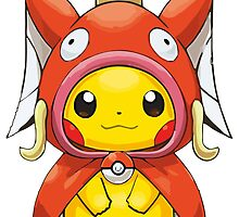 Pikachu Dressed as Magikarp by gizorge