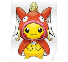 Pikachu Dressed as Magikarp Poster