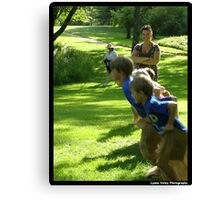 Sack Races Canvas Print
