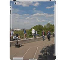 People taking in the view over london from Greenwich Park iPad Case/Skin