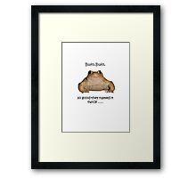 Bufo Bufo Toad, So Good They Named It Twice Framed Print