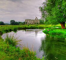 Newark Priory and a Tranquil Stream - HDR3 by Colin J Williams Photography