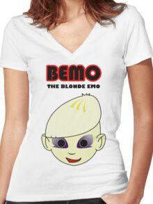 BEMO - The Blonde Emo Women's Fitted V-Neck T-Shirt