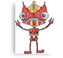Robot King Canvas Print