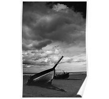 Marske Boats (B&W) Poster