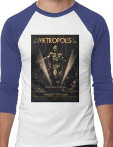 Metropolis alternative movie poster Men's Baseball ¾ T-Shirt