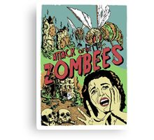 Attack of the Zombees Canvas Print