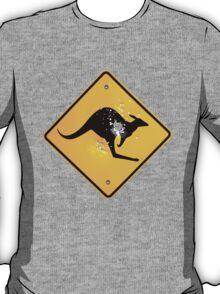 Kangaroo road sign T-Shirt